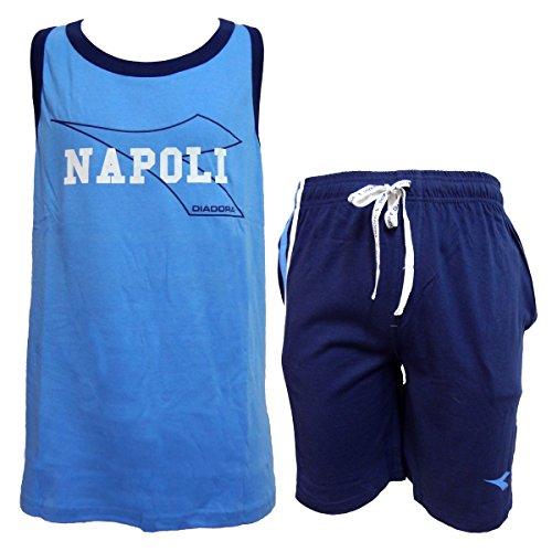 Pigiama Corto Spalla Azzurro Lara Art 60547 Uomo Napoli Diadora EBwOxtdEq