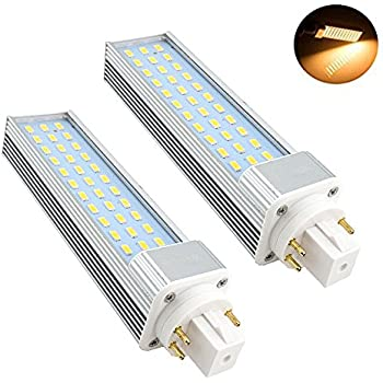 bonlux 2 pack 6w led gx23 pl lamp gx23d 2 pin base 13w cfl compact bonlux 2 pack 13w gx24 rotatable led plc lamp g24q gx24q 4 pin base 26w cfl compact fluorescent lamp replacement warm white 180° beam angle led pl