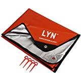 LYN Beach Picnic Camping Tent Mat Waterproof Thermal Insulation RV and Outings Heavy Duty Emergency Blanket