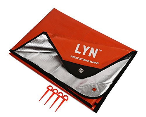 LYN Emergency Blanket Survival Blanket Waterproof Thermal Heavy Duty Insulation RV and Double-Sided for Beach Picnic Camping