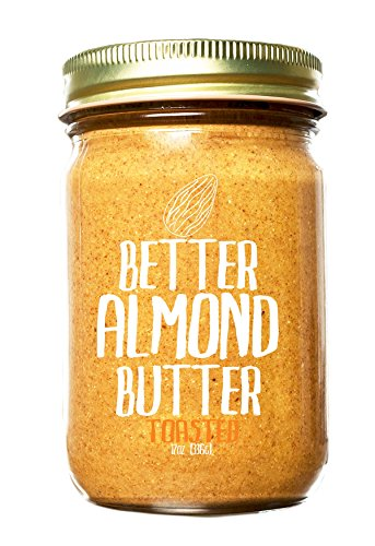 Butter Almond Toasted - Toasted (Chunky) - 100% Organic, Sprouted Unpasteurized almond butter 12oz - NON-GMO, Vegan, Gluten-Free - By Better Almond Butter