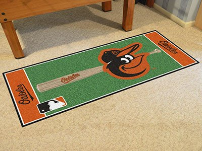 Baltimore Orioles Baseball 30 x 72 Field Runner - Baltimore Orioles Home Decor (Baseball Mlb Orioles Baltimore Rug)