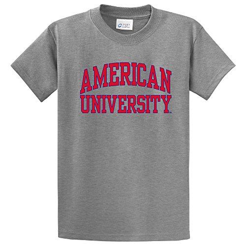NCAA American University Eagles Short Sleeve Tee, Medium, Athletic Heather
