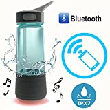 Sports Water Bottle, 3 in 1 Bluetooth Outdoor Speakers Water Bottle& Safety Light Wireless IPX7 Waterproof Outdoor Riding Sports Water Bottle