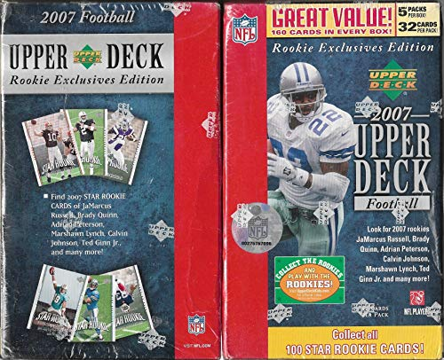- 2007 Upper Deck Rookie Exclusive Edition Football Blaster Box 5 Packs 160 Cards