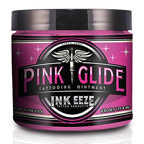 INK-EEZE Tattoo Products Pink Glide Tattoo Ointment 6 oz.