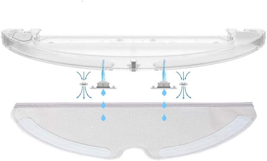 filtro de tanque de agua Accesorios para robot aspirador Xiaomi Mi filtros HEPA piezas Mijia Roborock E5 E6 E20 E25 E35 S6 S5 S50 S51 Robock2 cepillo principal Cepillos laterales trapeador