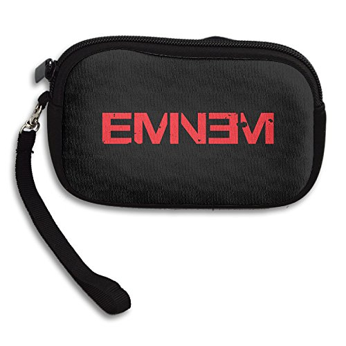 HAULKOO Eminem Double M M&M Rapper Record Producer Songwriter Actor Womens Mini Coin Purse Clutch Handbag With Strap ()