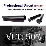 3m window tint roll - Uncut Roll Window Tint Film 50% VLT 36
