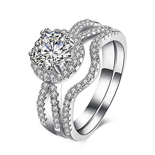 Tiffany Cupcake Charm (Women Charms Jewelry Zircon 925 Silver Popular Geometry Statement Rings)