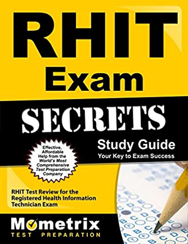 rhit exam secrets study guide rhit test review for the registered rh amazon com RHIT Study Book RHIT Study Book