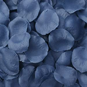 TheBridesBouquet.com Navy Blue Silk Rose Petals ~ 200 Petals - Wedding Decoration - Shower Decoration 114