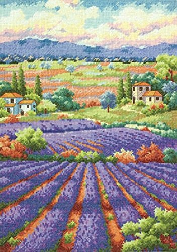 Lavender Designers Cross Stitch - Dimensions Needlecrafts Counted Cross Stitch, Fields of Lavender