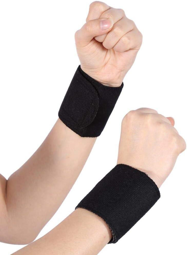 Muñequera Brace 1 par de turmalina Masaje magnético Terapia autocalentable Muñequera Almohadilla Alivio del dolor Muñequera Brackets Adecuado para dolor muscular y dolor de muñeca