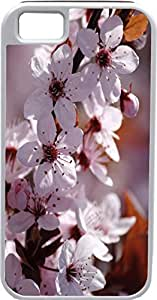 Blueberry Design iPhone 4 iPhone 4S Case white Leaves Flowers Design - Ideal Gift