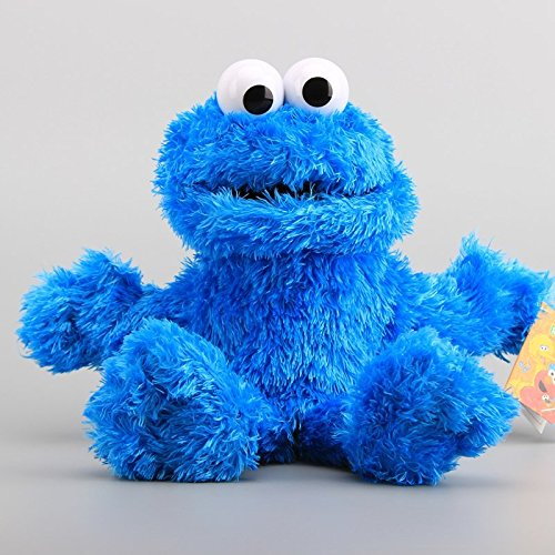 Sesame Street Cookie Monster Hand Puppet 13 Inch Toddler Stuffed Plush Kids Toys (Toy Stuffed Puppet)