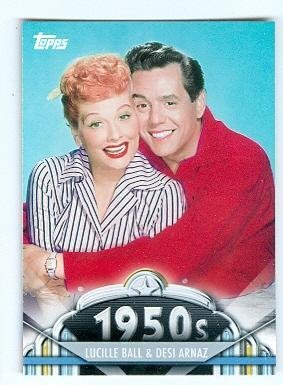 Lucille Ball Desi Arnaz trading card 2011 Topps #32 I love Lucy