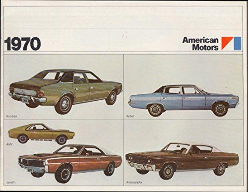 1970 American Motors UK Export brochure Rambler Rebel AMX Javelin Ambassador
