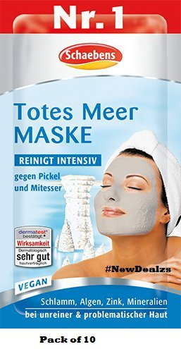 Schaebens Dead sea Mask - Pack of 10 (10 x 15ml for 10 Ap...