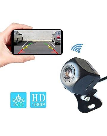 Camecho WiFi Cámara de visión Trasera para Coche 1080P HD Sistema de Respaldo inalámbrico Cámara de