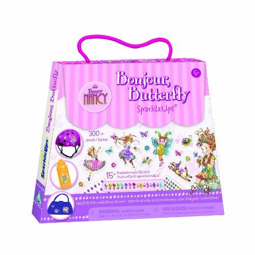 [The Orb Factory Fancy Nancy Bonjour Butterfly SparkleUps] (France Costume For Girls)
