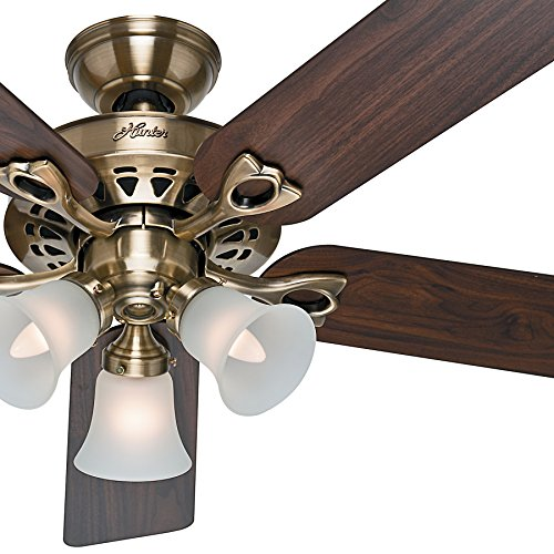 hunter-fan-52-traditional-ceiling-fan-in-antique-brass-with-frosted-glass-light-kit-and-remote-contr