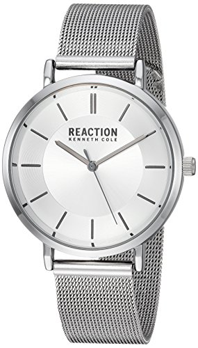 Kenneth Cole REACTION Women's Quartz Metal and Stainless Steel Casual Watch, Color:Silver-Toned (Model: RK50105001)