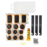 Bike Tire Repair Kits, Inner Tube Patch Bicycle Maintenance Tool Also for Inflatable Dinghies, ATVs, BMX and Motorcycles