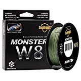 SeaKnight Monster W8 Braided Lines 8 Strands Weaves 300M/328Yards Super Smooth PE Braided Multifilament Fishing Lines for Sea Fishing Low-Vis Green 30LB Review