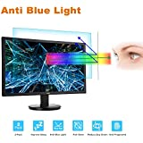"""24 Monitor Screen Protector -Blue Light Filter, Eye Protection Blue Light Blocking Anti Glare Screen Protector for Diagonal 24"""" with 16:9 Widescreen Desktop Monitor (Size: 20.9"""" Width x 11.8"""" Height)"""