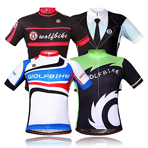 WOLFBIKE-Men-Cycling-Jersey-3D-Gel-Padded-Shorts-Biking-Sportswear