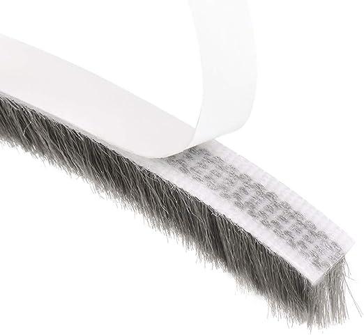 Burlete de puerta corrediza de Winow cepillo sello fieltro Insertar lana pile meteorol/ógica para desmontar impermeabilizaci/ón impermeable hydro-pro 10 metros 32.8 pies PVC gris