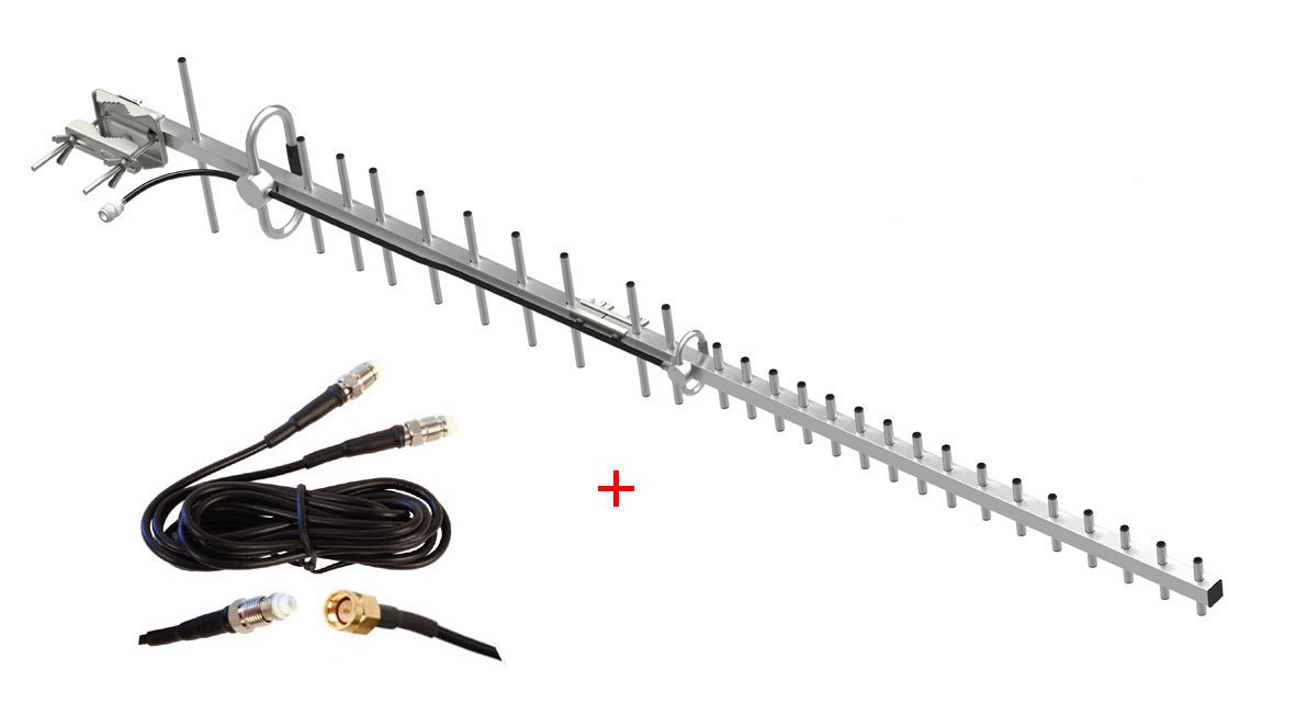 Bosch B440 B441 B442 B443 Conettix Cellular Communicator modem External Yagi Antenna 18db 800mhz 850mhz 900mhz 1800mhz 1900mhz by maxmostcom