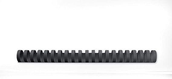 Plastikbinderücken 21 Ringe 28mm oval schwarz