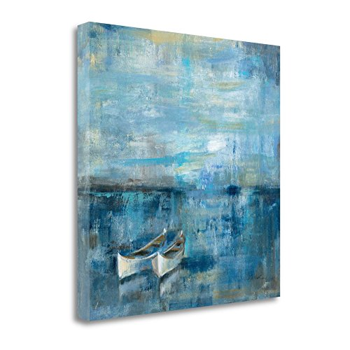 ''Two Boats'' By Silvia Vassileva, Fine Art Giclee Print on Gallery Wrap Canvas, Ready to Hang by Tangletown Fine Art