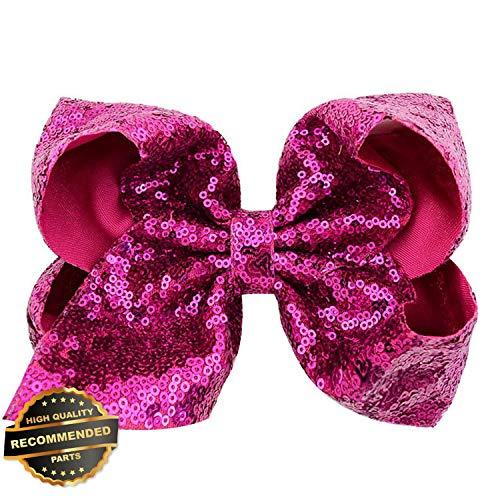 Gatton Premium New Girls 8 inch Big Large Bow Sequin Alligator Hair Clips Headwear Hair Accessories | Style -