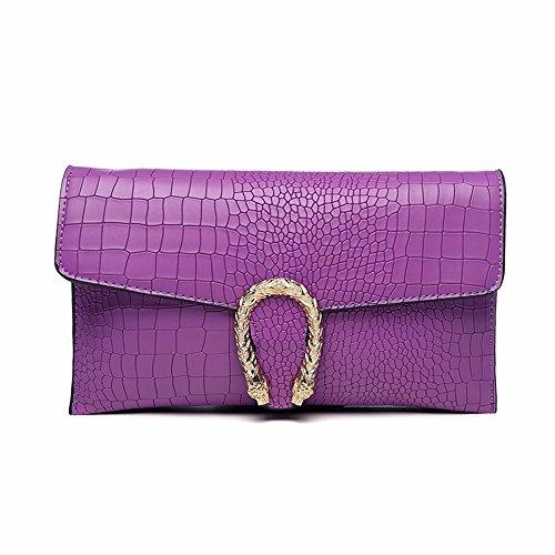 CCZUIML Bag para Crossbody de púrpura Mano Bolso Negro Mujer rrUqdS