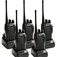Galwad 5PCS UHF 400-470 MHZ 5W CTCSS Portable Two Way Radio Handheld Galwad-888S Long Range Walkie Talkie 888S Kids Radio for Camping, Hiking with Earpieces(Pack of 5)