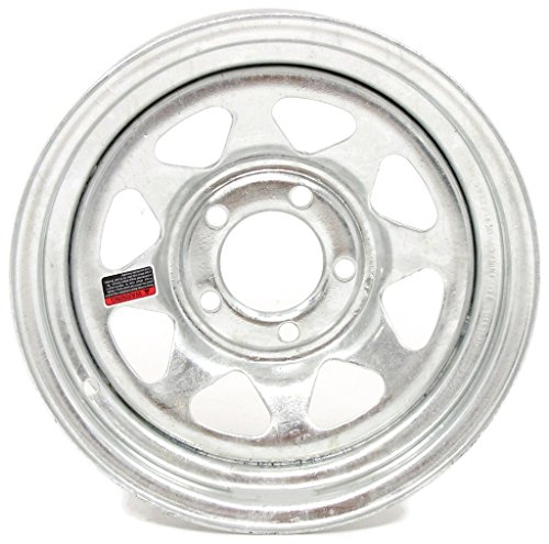 eCustomRim 2-Pack Trailer Wheel Galvanized Rims 15 x 6 Spoke Style 5 Lug On 4.5 Steel