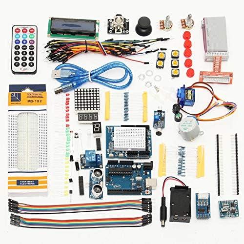 Jodie Bernol Módulo, para Arduino UNO R3 Starter Kit 1602 LCD Servo ultrasónico LED Relé RTC: Amazon.es: Electrónica
