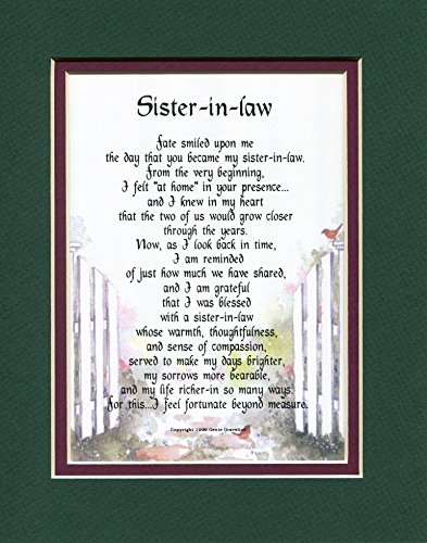 A Gift Present Poem for A SisterinLaw Birthday #91