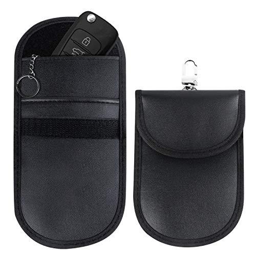 Car Key Signal Blocker Pouch,Faraday Bag for Key Fob,Keyless Entry Car Keys Case,Anti-theft Car Key Pouch,RFID Blocking…