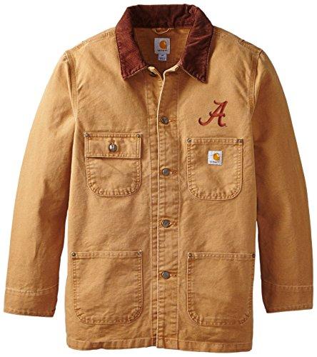 NCAA Alabama Crimson Tide Men's Weathered Chore Coat, Large ()