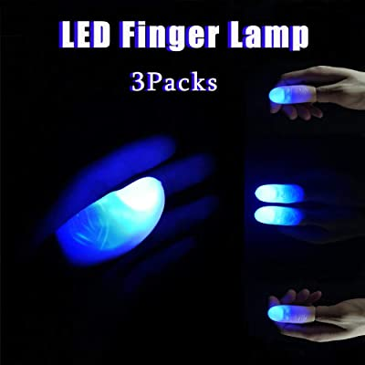 CYKT Toys Gifts for 3-12 Year Old Boys Kids LED Finger Lamps Thumbs(3Packs/ 6PCS) Fake Finger,,Magic Kit Set with Toy,Magic Tricks for Beginners - Best Age 8 9 10 11 12: Toys & Games