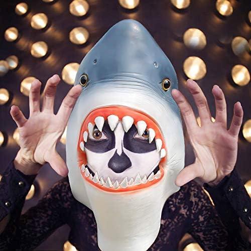 SehrGo Máscara de tiburón Halloween, Disfraz de Fiesta de látex ...