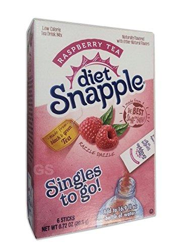 (Snapple - Iced Tea Singles To-Go, Diet Raspberry Tea, 0.68 oz Stick, 6/Box 33617 (DMi CT)
