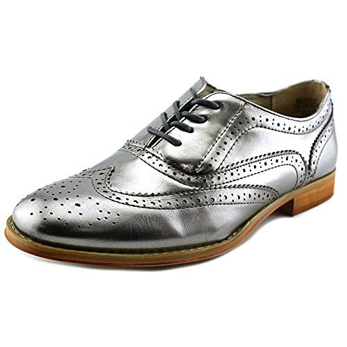 Wanted Shoes Womens Babe Oxford, Pewter, 8 M US