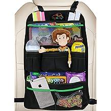 EPAuto Premium Car Backseat Organizer for Baby Travel Accessories, Kids Toy Storage, Back Seat Protector / Kick Mat
