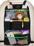 EPAuto Premium Car Backseat Organizer for Baby Travel Accessories, Kids Toy Storage, Back Seat Protector / Kick Mat ()