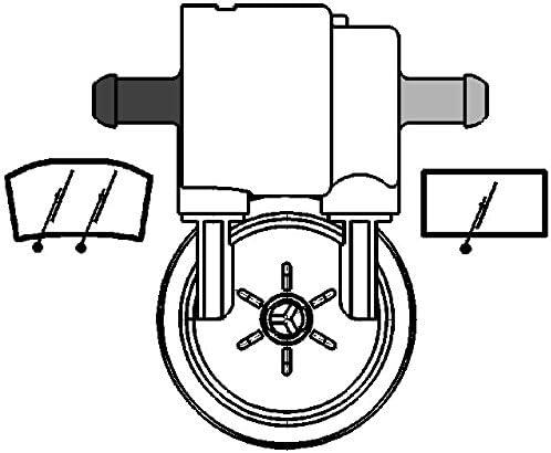 Dual Pump window cleaning HELLA 8TW 005 206-051 Water Pump